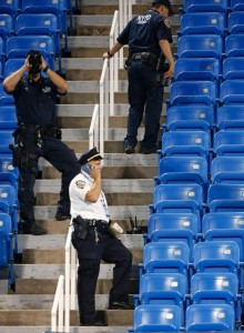 Drone crashes at US Open tennis match
